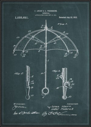 umbrella patent plakat